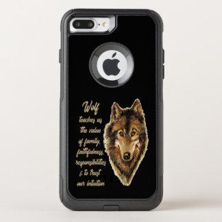 Capa iPhone 8 Plus/7 Plus Commuter OtterBox Guia do espírito animal do Totem do lobo para a