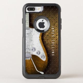 Capa iPhone 8 Plus/7 Plus Commuter OtterBox Guitarra elétrica do Grunge legal do metal