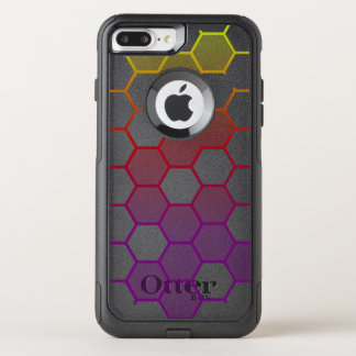 Capa iPhone 8 Plus/7 Plus Commuter OtterBox Hex da cor com cinza