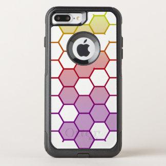 Capa iPhone 8 Plus/7 Plus Commuter OtterBox Hex da cor no branco