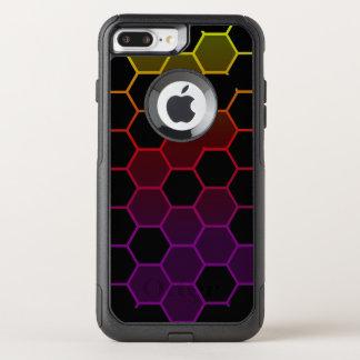 Capa iPhone 8 Plus/7 Plus Commuter OtterBox Hex da cor no preto