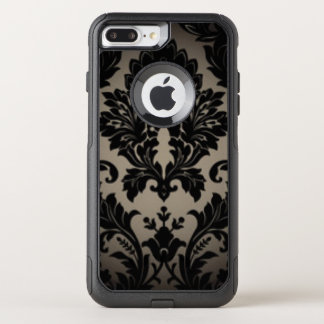 Capa iPhone 8 Plus/7 Plus Commuter OtterBox Impressão preto & cinzento da cor damasco