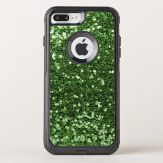 Capa iPhone 8 Plus/7 Plus Commuter OtterBox Impressão verde Glam do divertimento do brilho do