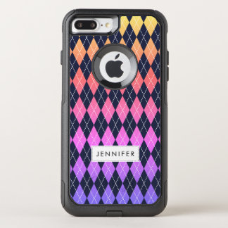 Capa iPhone 8 Plus/7 Plus Commuter OtterBox iPhone colorido do teste padrão de Argyle 8 Plus/7
