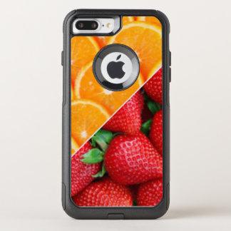 Capa iPhone 8 Plus/7 Plus Commuter OtterBox Laranjas & colagem das morangos
