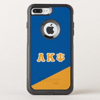 Capa iPhone 8 Plus/7 Plus Commuter OtterBox Letras alfa do grego da libra por polegada