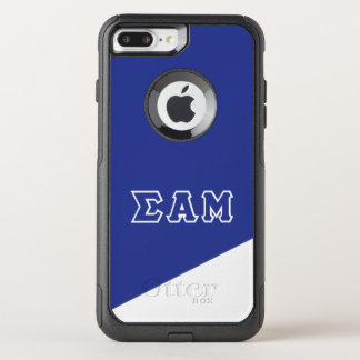 Capa iPhone 8 Plus/7 Plus Commuter OtterBox Letras do grego da MU | do alfa do Sigma