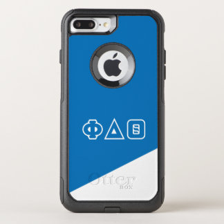 Capa iPhone 8 Plus/7 Plus Commuter OtterBox Letras do grego da teta | do delta da phi