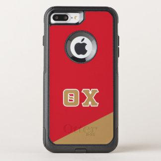Capa iPhone 8 Plus/7 Plus Commuter OtterBox Letras do grego do qui   da teta