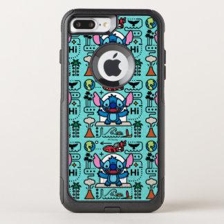 Capa iPhone 8 Plus/7 Plus Commuter OtterBox Lilo & ponto Emoji de Stich |