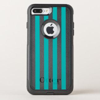 Capa iPhone 8 Plus/7 Plus Commuter OtterBox Listras verticais do Aqua