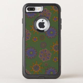 Capa iPhone 8 Plus/7 Plus Commuter OtterBox Malva & flores do ouro