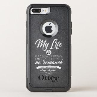 Capa iPhone 8 Plus/7 Plus Commuter OtterBox Minha vida é como uma comédia romântica