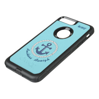 Capa iPhone 8 Plus/7 Plus Commuter OtterBox Monogrammed Aweigh das âncoras