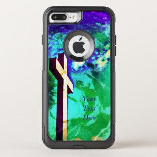 Capa iPhone 8 Plus/7 Plus Commuter OtterBox O Aqua e a ametista transversais santamente -