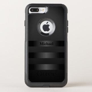 Capa iPhone 8 Plus/7 Plus Commuter OtterBox O preto legal listra o monograma