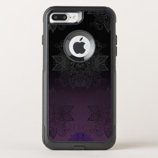 Capa iPhone 8 Plus/7 Plus Commuter OtterBox O roxo ao preto desvanece-se Mehndi
