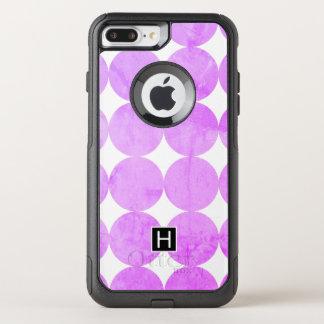Capa iPhone 8 Plus/7 Plus Commuter OtterBox O roxo moderno circunda o monograma de |