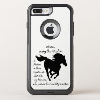 Capa iPhone 8 Plus/7 Plus Commuter OtterBox Os cavalos levam a sabedoria de citações curas