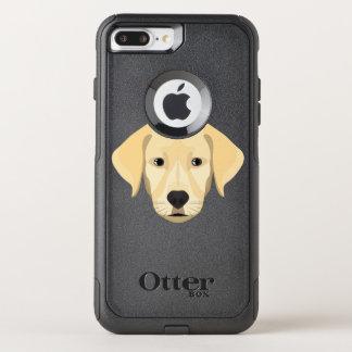 Capa iPhone 8 Plus/7 Plus Commuter OtterBox Ouro Retriver do filhote de cachorro da ilustração