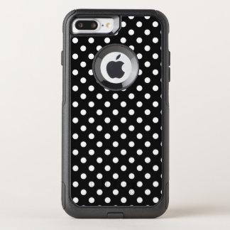 Capa iPhone 8 Plus/7 Plus Commuter OtterBox Preto com pontos brancos