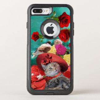 CAPA iPhone 8 PLUS/7 PLUS COMMUTER OtterBox PRINCESA TATUS DO CAT DA CELEBRIDADE, RED HAT COM