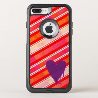Capa iPhone 8 Plus/7 Plus Commuter OtterBox Roxo de derretimento do coração