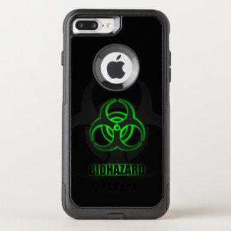 Capa iPhone 8 Plus/7 Plus Commuter OtterBox Símbolo verde de incandescência do Biohazard