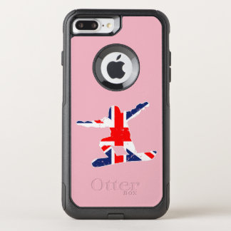 Capa iPhone 8 Plus/7 Plus Commuter OtterBox SNOWBOARDER de Union Jack (branco)