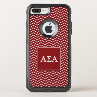 Capa iPhone 8 Plus/7 Plus Commuter OtterBox Teste padrão alfa do alfa | Chevron do Sigma
