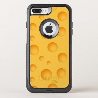 Capa iPhone 8 Plus/7 Plus Commuter OtterBox Teste padrão amarelo do queijo