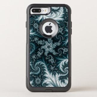Capa iPhone 8 Plus/7 Plus Commuter OtterBox Teste padrão ciano e branco do fractal