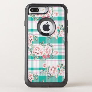 Capa iPhone 8 Plus/7 Plus Commuter OtterBox Teste padrão cor-de-rosa das flores bonitas do
