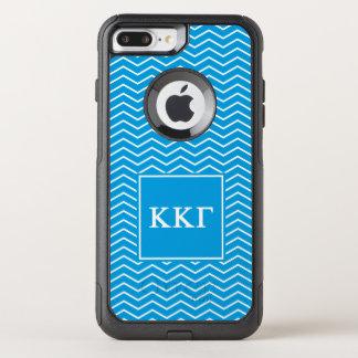 Capa iPhone 8 Plus/7 Plus Commuter OtterBox Teste padrão da gama   Chevron do Kappa do Kappa