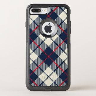Capa iPhone 8 Plus/7 Plus Commuter OtterBox Teste padrão da xadrez dos azuis marinhos