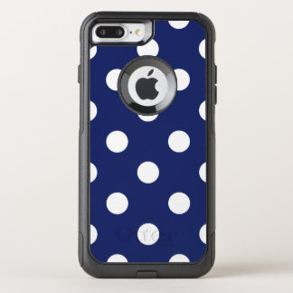 Capa iPhone 8 Plus/7 Plus Commuter OtterBox Teste padrão de bolinhas dos azuis marinhos e do
