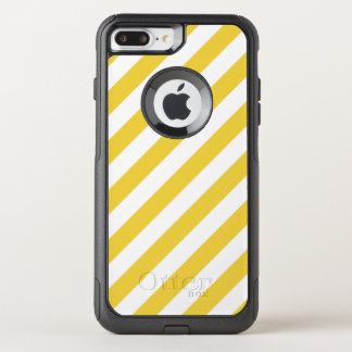 Capa iPhone 8 Plus/7 Plus Commuter OtterBox Teste padrão diagonal amarelo e branco das listras