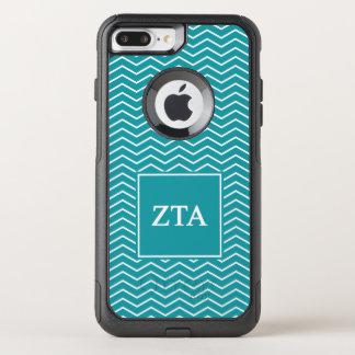 Capa iPhone 8 Plus/7 Plus Commuter OtterBox Teste padrão do alfa   Chevron da tau do Zeta