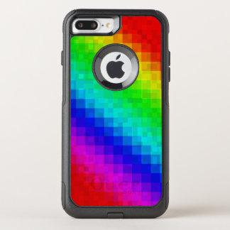 Capa iPhone 8 Plus/7 Plus Commuter OtterBox Teste padrão do azulejo de mosaico do arco-íris,