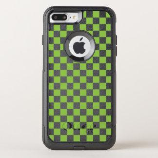 Capa iPhone 8 Plus/7 Plus Commuter OtterBox Teste padrão do tabuleiro de damas do verde