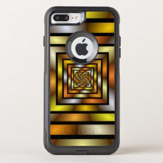 Capa iPhone 8 Plus/7 Plus Commuter OtterBox Teste padrão gráfico colorido do Fractal do túnel