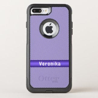 Capa iPhone 8 Plus/7 Plus Commuter OtterBox Teste padrão pequeno violeta da xadrez