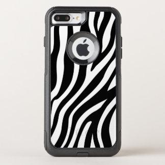 Capa iPhone 8 Plus/7 Plus Commuter OtterBox Teste padrão preto e branco das listras do