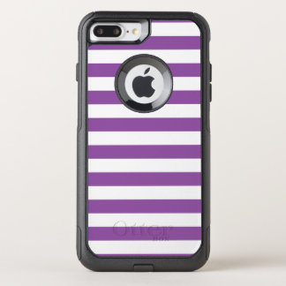 Capa iPhone 8 Plus/7 Plus Commuter OtterBox Teste padrão roxo e branco da listra