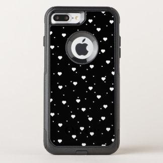 Capa iPhone 8 Plus/7 Plus Commuter OtterBox Teste padrão sem emenda dos corações brancos &