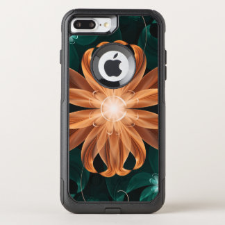 Capa iPhone 8 Plus/7 Plus Commuter OtterBox Turquesa de fascínio e lírio de tigre alaranjado