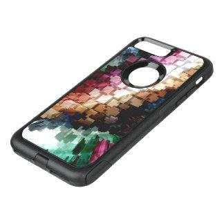 Capa iPhone 8 Plus/7 Plus Commuter OtterBox Vento escuro céntrico do cubo