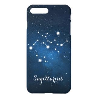 Capa iPhone 8 Plus/7 Plus Constelação azul do sinal do zodíaco do Sagitário