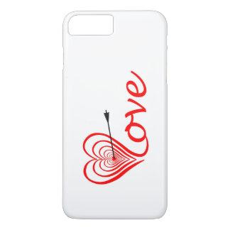 Capa iPhone 8 Plus/7 Plus Coração amor alvo com seta