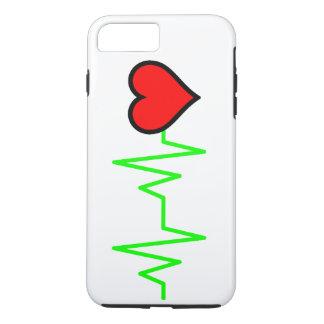 Capa iPhone 8 Plus/7 Plus Coração do Cardiogram de EKG